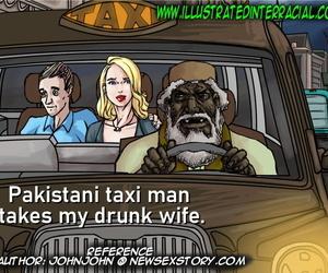 Illustratedinterracial- Pakastani Hansom cab Guy