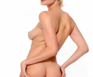 Stunning skinny blonde Skye Blue takes a dark knob in her pink muff