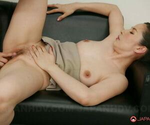 New Asian secretary Ai Kamijou fucks her boss & gets her hairy pussy creampied