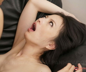 Small titted Asian girl Miriya Hazuki gets her twat creampied after a gangbang