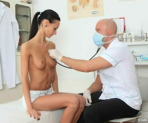Tall teen Martina has carnal knowledge by way of a checkup with her distance debase