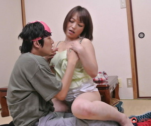 Sweet Asian girl Yui Ayana tastes a dick and gets rammed on a brink