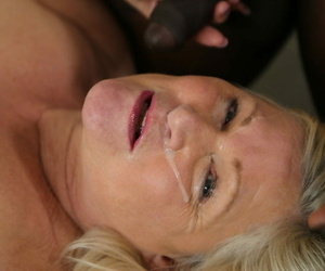 Big-breasted granny Lacey Starr ends sinful interracial bit on touching a facial