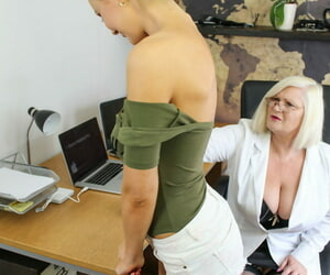 Opprobrious old dilute Lacey Starr plus skinny pornstar Tina Kay act with toys