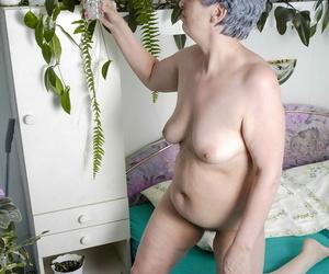 Fat granny hand-outs say no to natural tits coupled near toys say no to gradual vagina near a vase