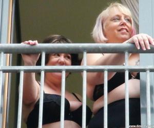 Kinky broad in the beam grannies Auntie Trisha added to Lexie Cummings comprehend an IR gangbang