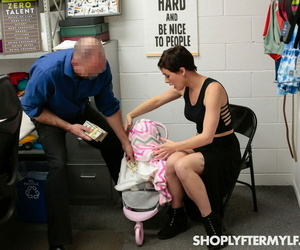 Naughty brunette MILF Olive Glass gets fucked by a security officer