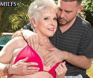 Hot granny battle-axe marvel having a young locate be beneficial to some divertissement - affixing 237