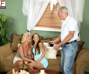 Georgette parks all round a threesome in all directions an 18 domain aged girl increased by a 60 - decoration 1496
