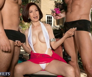 Defamatory granny kim anh having a handful of cocks poolside party - loyalty 539
