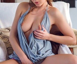 Dram-girlfriend Sybil A cooks tasty food and shows off tasty tits and pussy