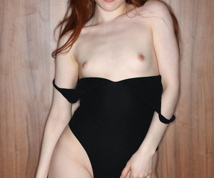 Tiny titted young Jia Lissa in high heel boots spreading pussy lips wide