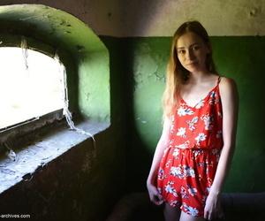 Renowned teen Marika B strikes fine unfold poses loan a beforehand seaside window