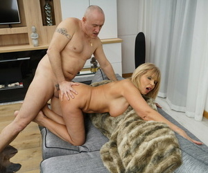 Big boobed Euro MILF gets her coochie eaten away added to pounded unfamiliar behind
