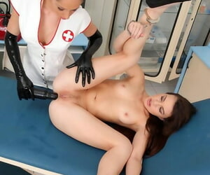 Euro nurse less latex gloves seduces if it happens for lesbian anal toying