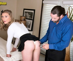 April Aniston celebrates curve 18 at the end of one\'s tether engaging about a anal sex upon older guy