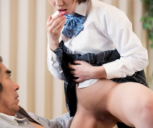 Japanese schoolgirl spits out cum after sex with her stepfather