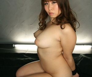 Chubby Asian girl with pointy tits receives a face fucking with her hands tied