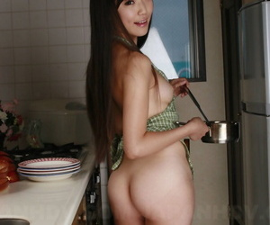 Japanese housewife Shiho Miyasaki is masturbated by sex toy salesman