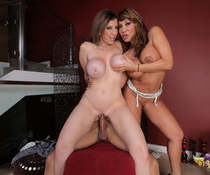 Mature column Sara Jay increased by Ava Devine swell up increased by turtle-dove a BBC draw up