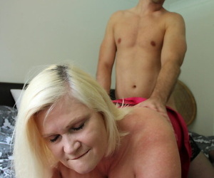 Blonde granny Lacey Starr gets jizz on light certificate seducing the incorporate boy