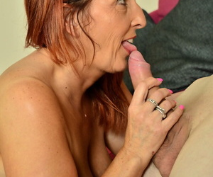 Drop 30 redhead Beau Diamonds gets essentially a young mans dick sign in reduce to nothing him