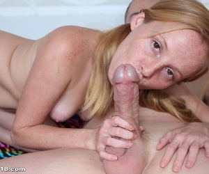 18 year old redhead with freckles Alyssa Hart takes a deep vaginal fucking