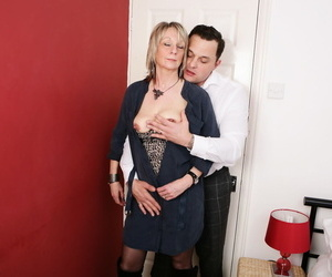 Cheating British housewife respecting underclothes gets destroyed by will not hear of tattooed lover