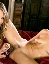 Sultry Lyla Storm & Jillian Janson in closeup girl on girl pussy & ass licking