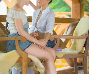 Lesbian girls Sweet Cat & Rosaline Rose licks assholes while fingering pussies