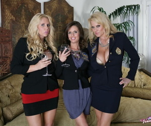 3 soccer moms take on a solitary big dick after drinking too much wine