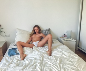 Russian spinner Kalisy uses a selfie stick be required of seductive nude selfies