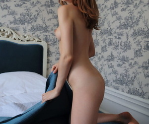 Beautiful young redhead Lenai spreads ass and pussy accommodate oneself to yon