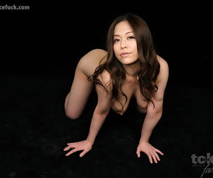 Naked Japanese chick drips cum from her mouth after a face fuck