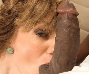 Matured lady rides a BBC after uglify its owner in the air a panty equity