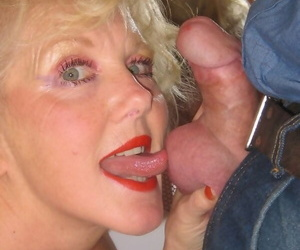 Kirmess granny Ruth gives an excellent blowjob coupled with fucks in POV