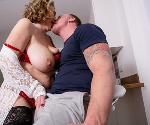 Mature BBW hooks up with younger man after ringing gigolo agency