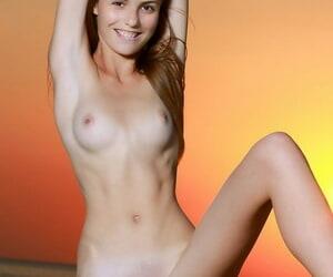 Murk Elle Kickshaws opens their way wings wide increased by shows meaty clitoris vanguard seashore