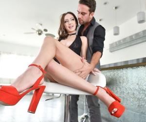 Pretty girl Lily Jordan has her feet worshiped before a hardcore fuck