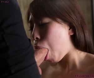 Naked Japanese female Sakurai Ruru licks plus swell up a cock to ejaculation