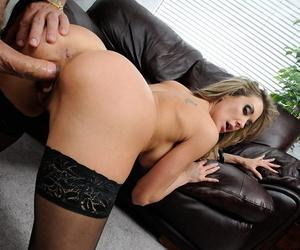 Mature pornstar Brandi Love takes a facial cumshot after fucking