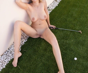 Teen unique girl Agatha gets mere while working on her putting fun