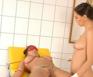 Remarkable pornstar Eve Angel playing rough in nasty lesbo thraldom instalment