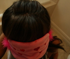 Blindfolded toddler Lily Paige bonking hardcore in dilettante porn