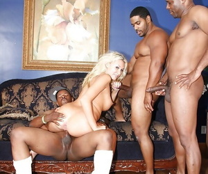 Katie Summers has a wild groupsex with four well-hung black guys