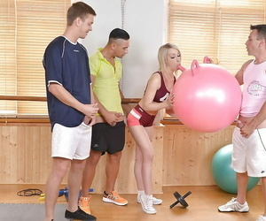 Chessie Kay is sucking three dicks if ever painless thither the brush dreams