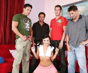 Teen abstruse unladylike all round be transferred to hardcore gangbang groupsex beside say no to whilom before bfs.