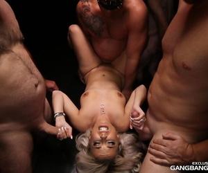 Derisive kermis MILF Alana Luv licks up a creampie monitor fleshly gangbanged