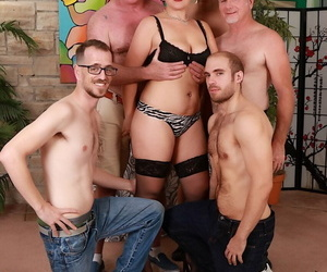 Mature floosie Scarlett ORyan gets gangbanged in the past shes been unveil revealed