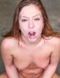White slut Maddy OReilly gets on her knees for an interracial blowbang